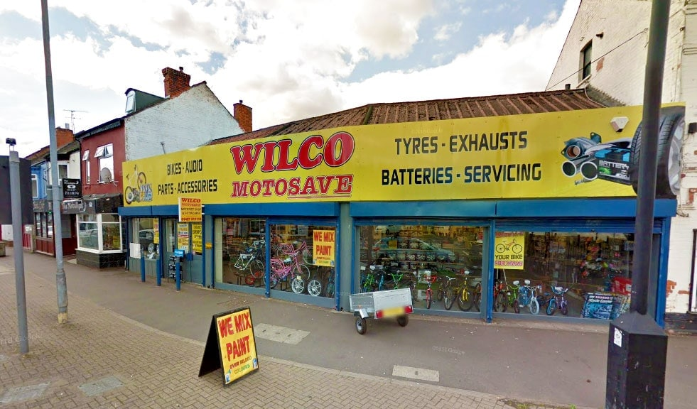 Outside photo of Wilco Motosave Gainsborough branch