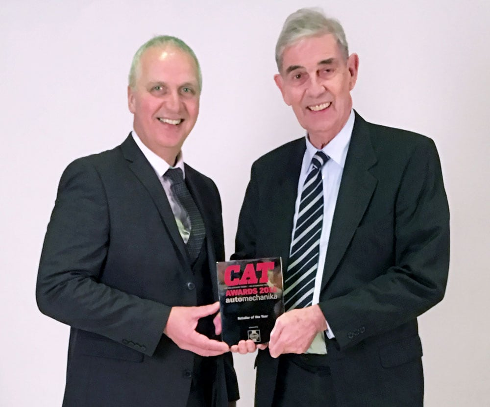 Kevin Shortis and Carl Zajac with the CAT Award
